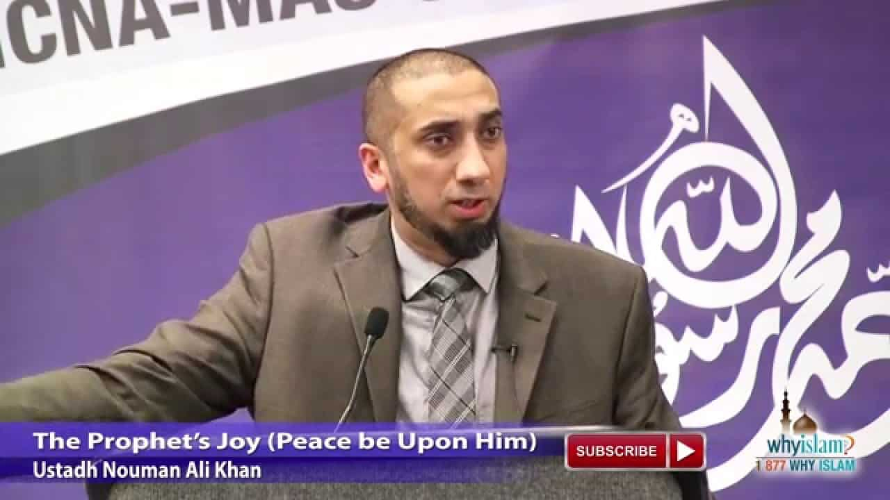 Nouman Ali Khan – The Prophet's Joy (Peace be Upon Him)